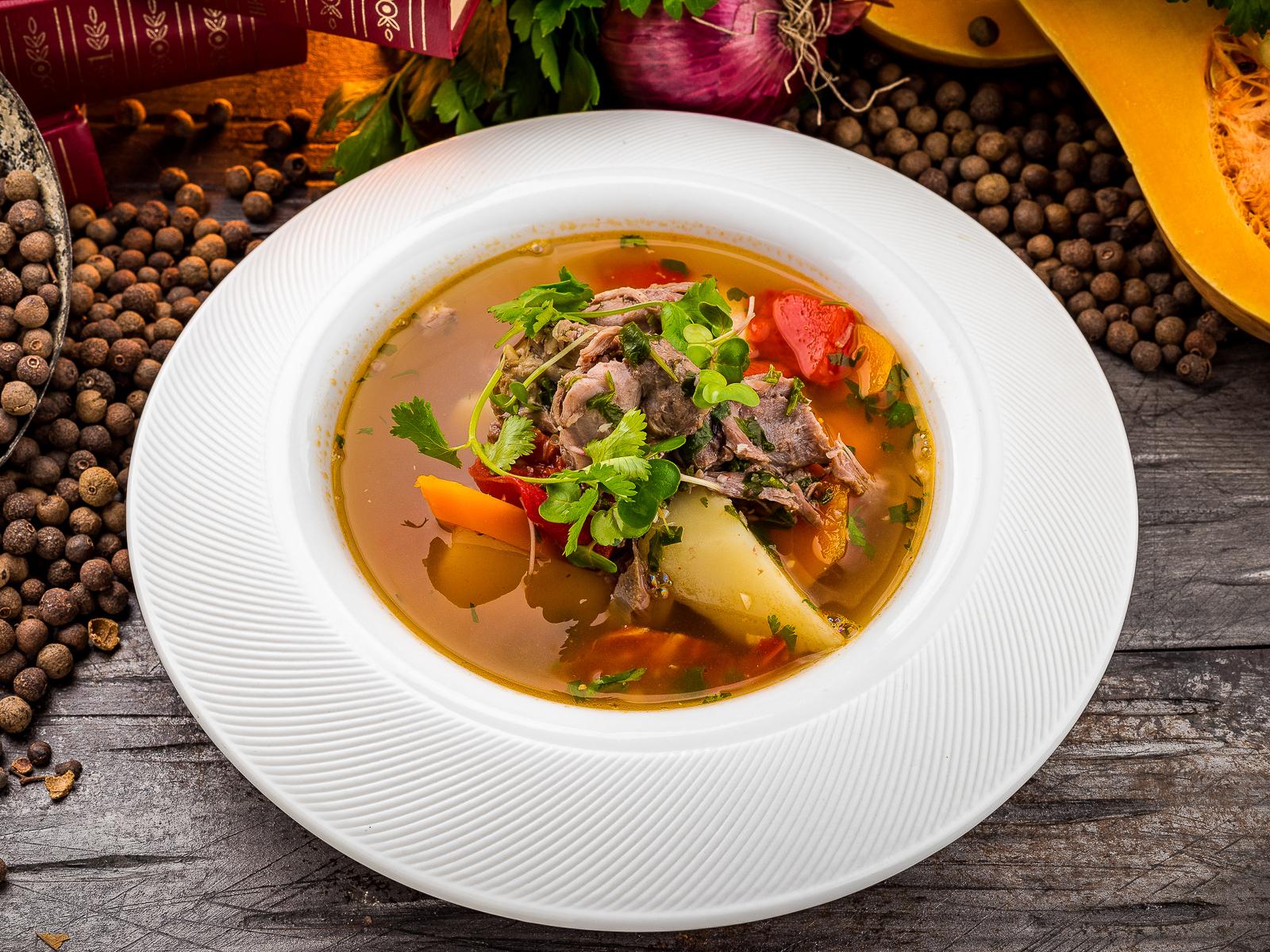 Наваристый суп из молодой баранины