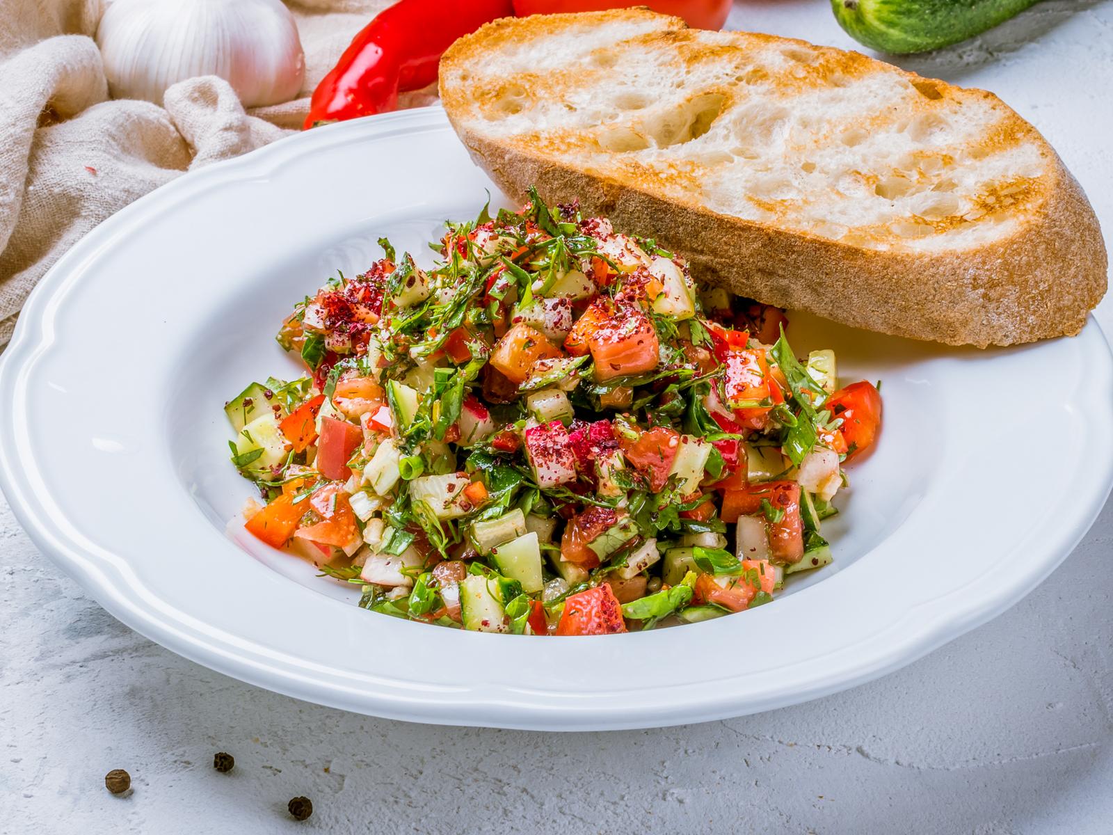 Еврейский овощной салат