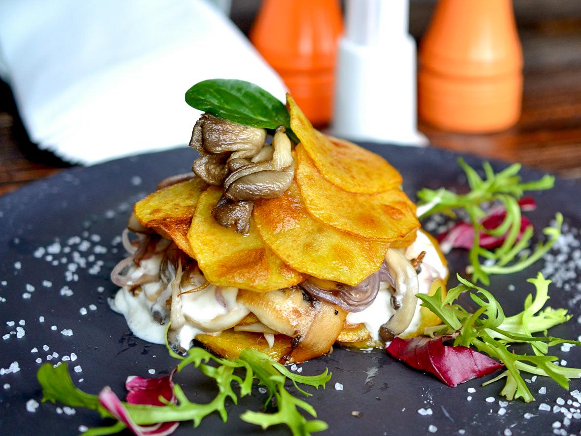 Гратен из картофеля с грибами