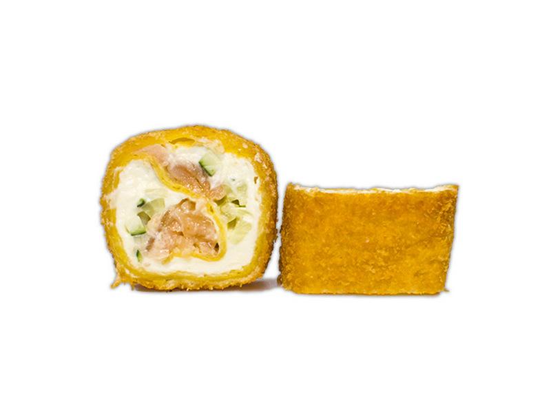 Тортилья с лососем в темпуре