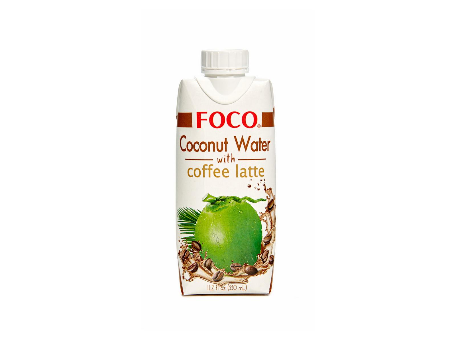 Натуральная кокосовая вода кофейная латте