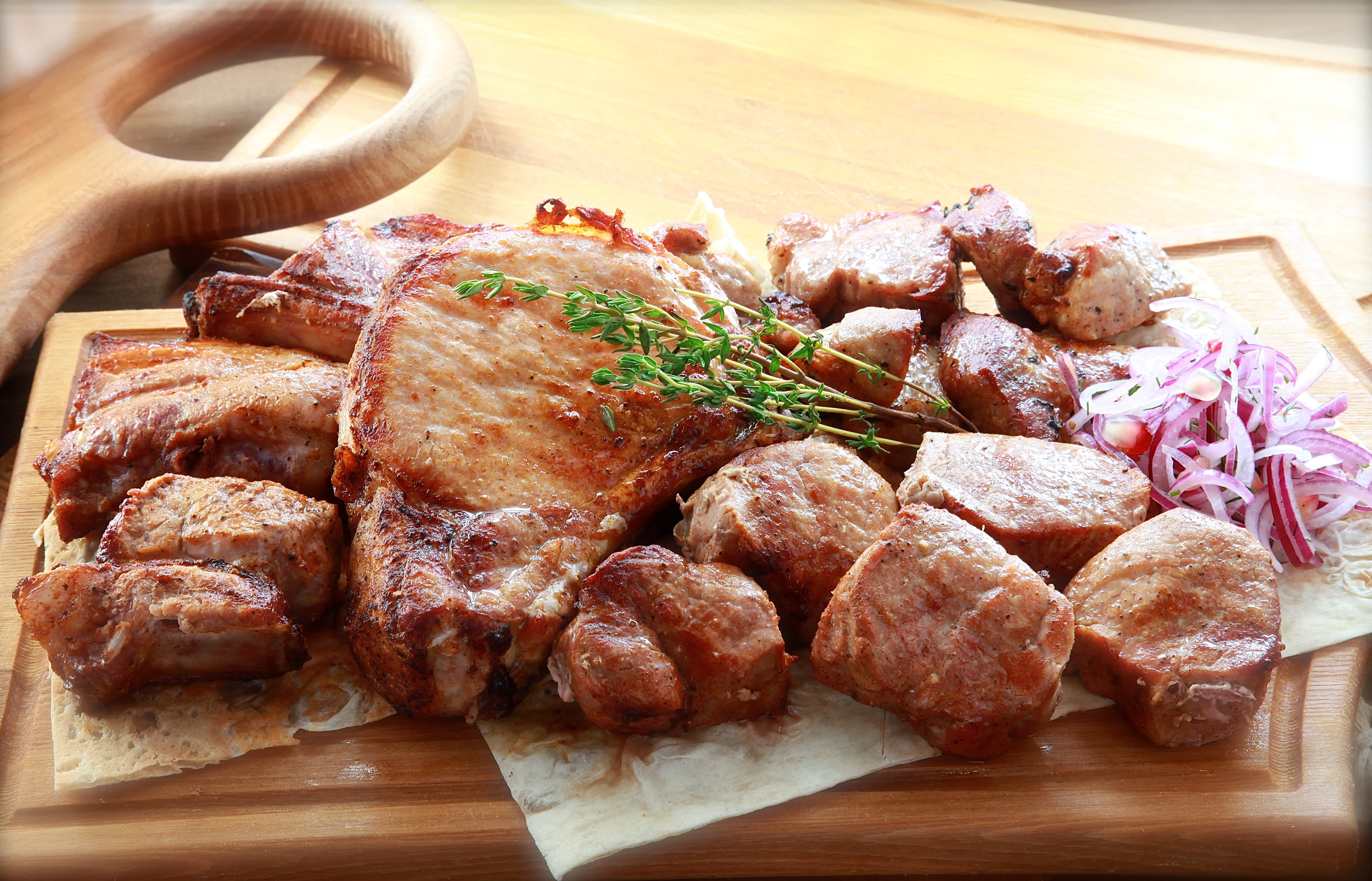 Ассорти шашлыков из свинины