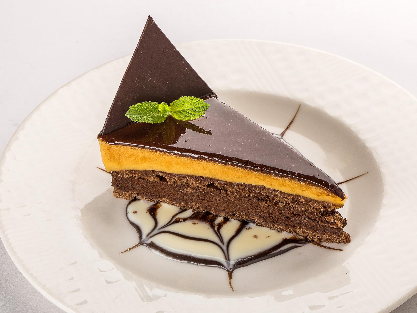 Шоколадный тортик  с соленой карамелью