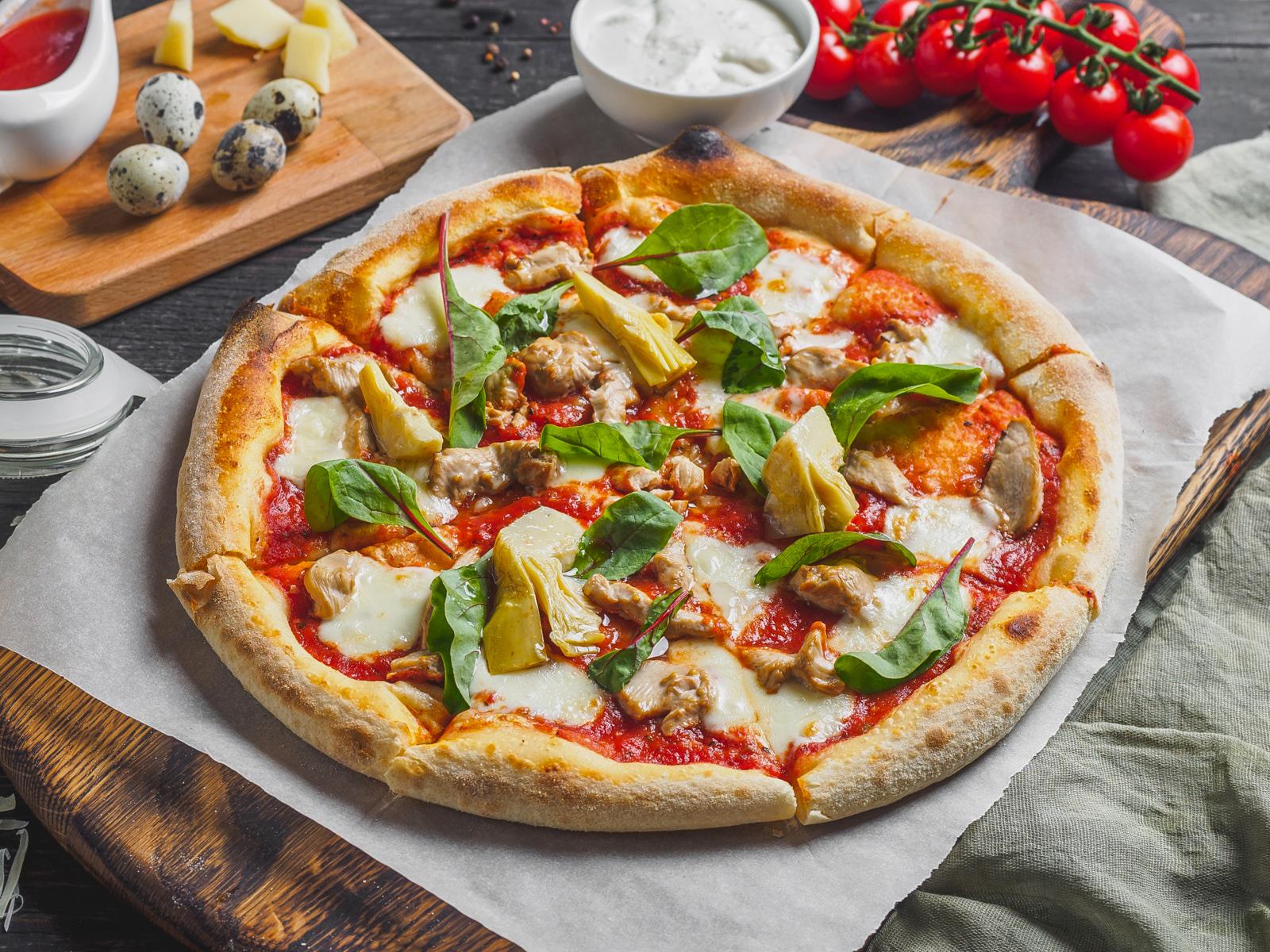 Пицца Куриная с артишоками