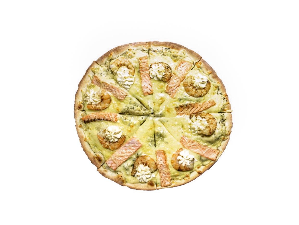Пицца Цезарь с морепродуктами