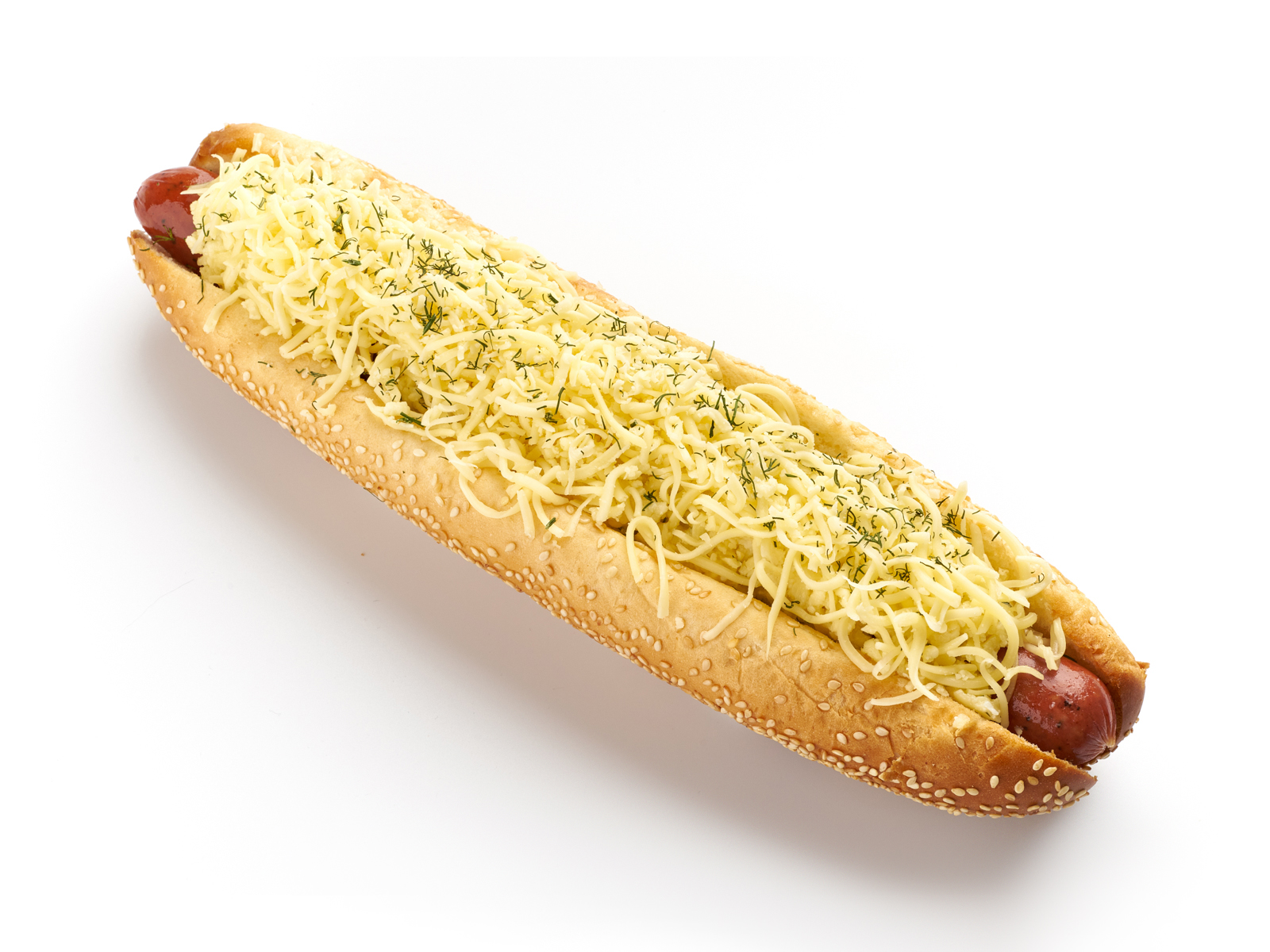 Длинный сырный хот-дог