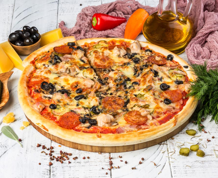 Пицца Прожорливый курьер фирменная