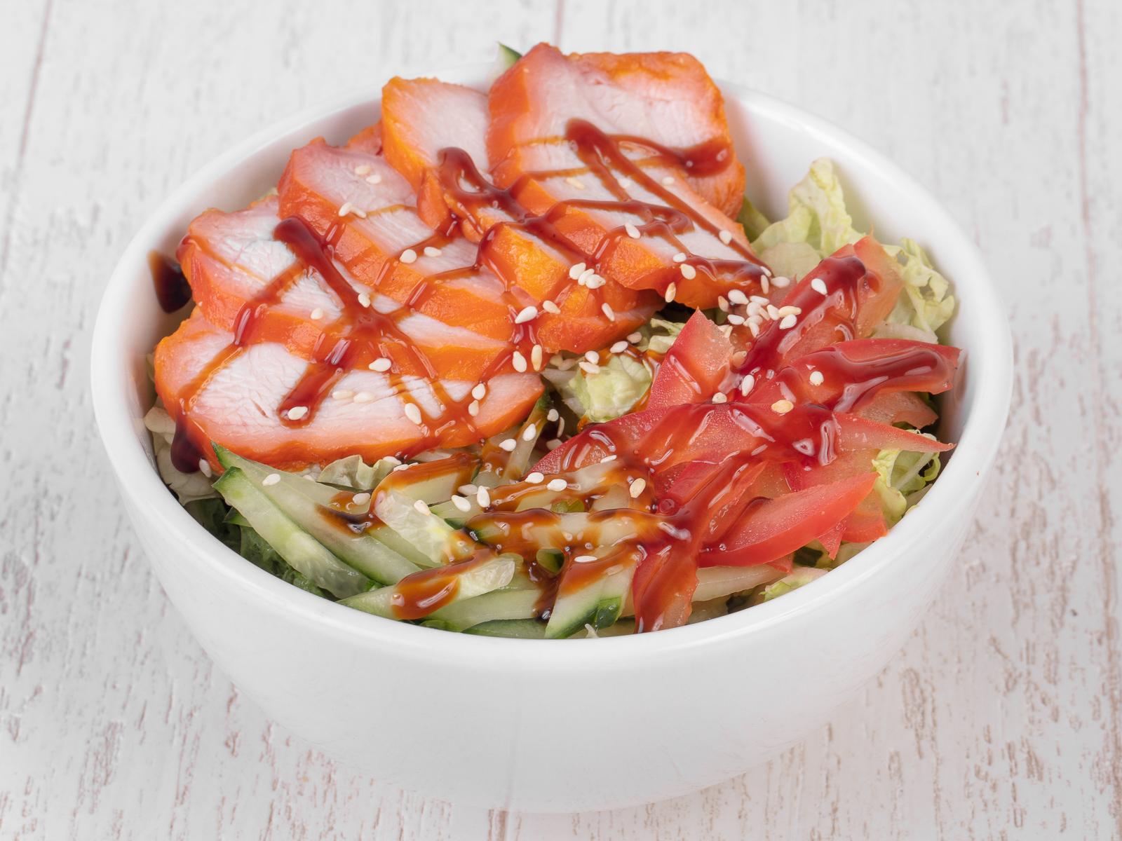 Салат с копченой курой