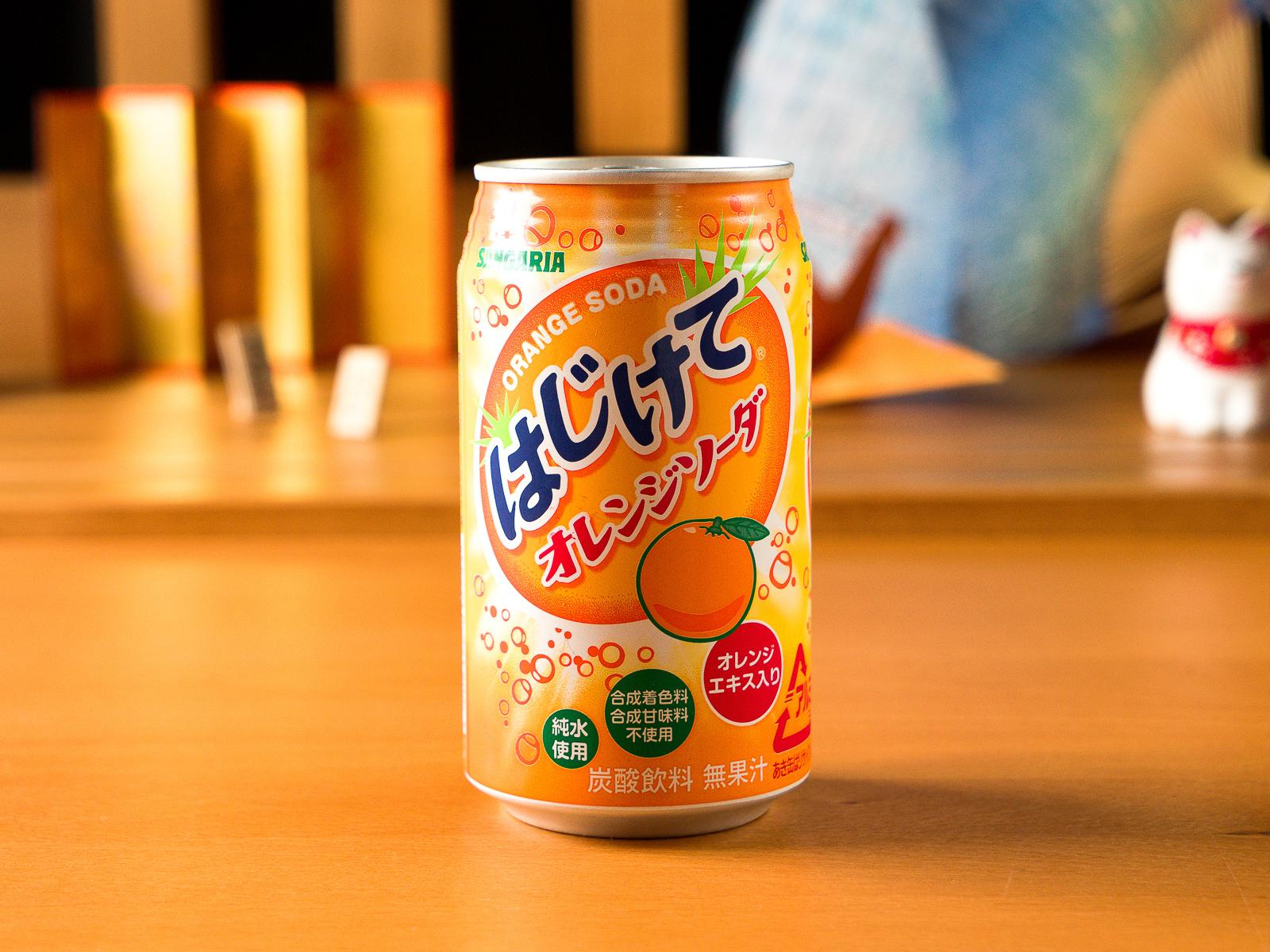 Японская газировка со вкусом апельсина