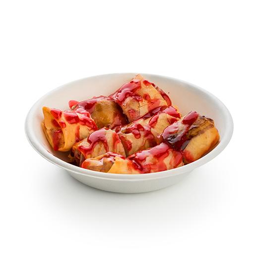 Тайский блинчик с ягодным соусом