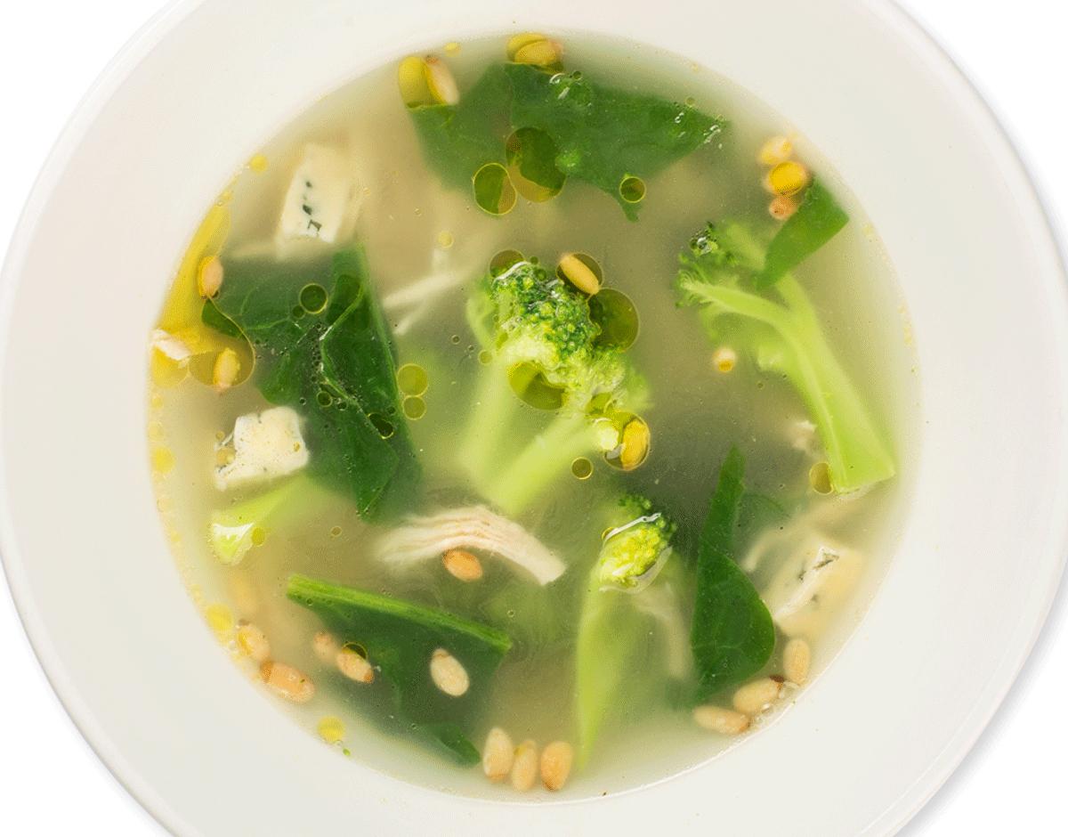 Суп с брокколи и куриным мясом