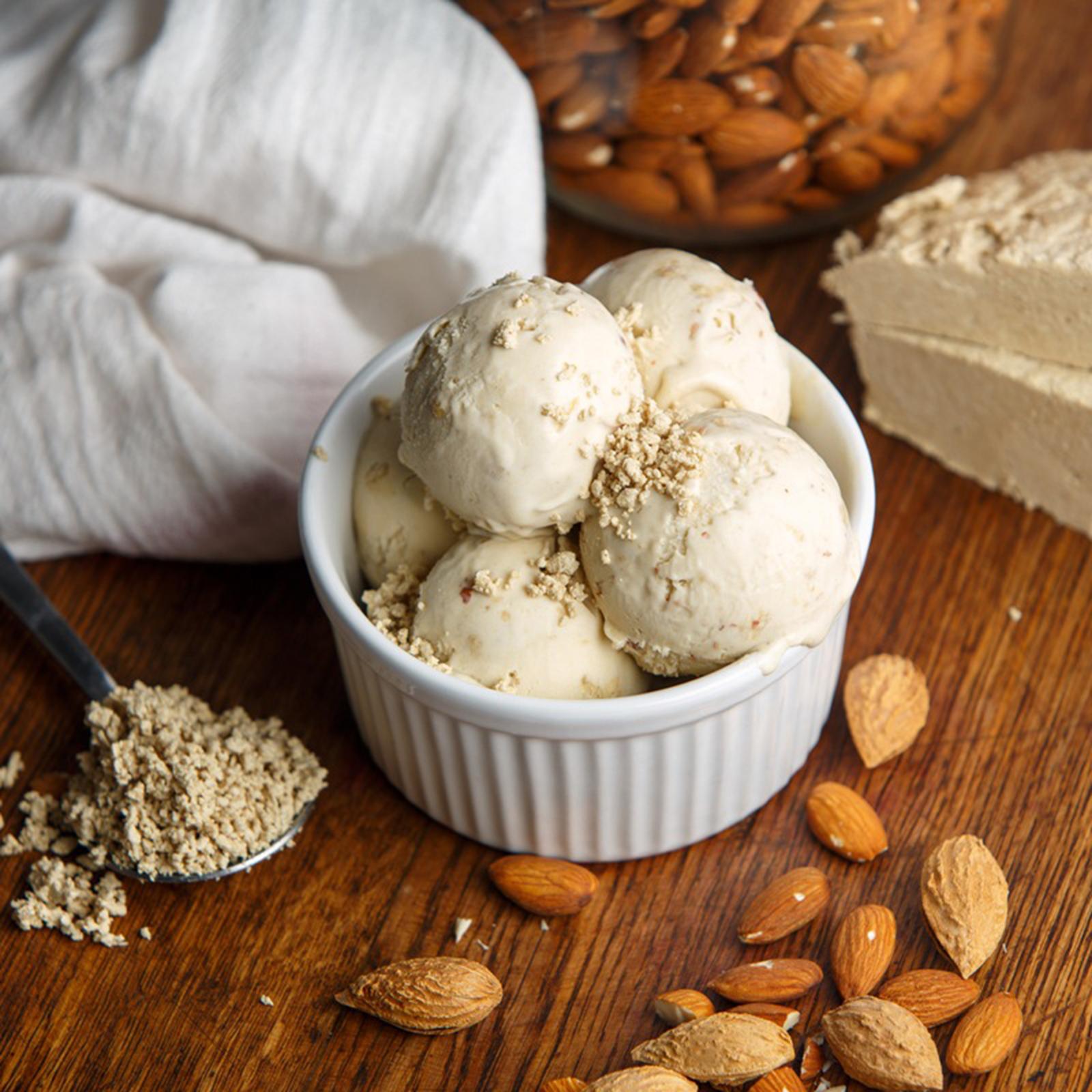 Мороженое Халва с миндалем