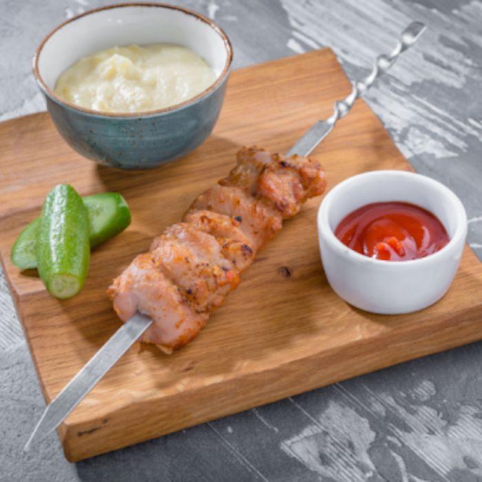 Куриный шашлычок детский с картофельным пюре