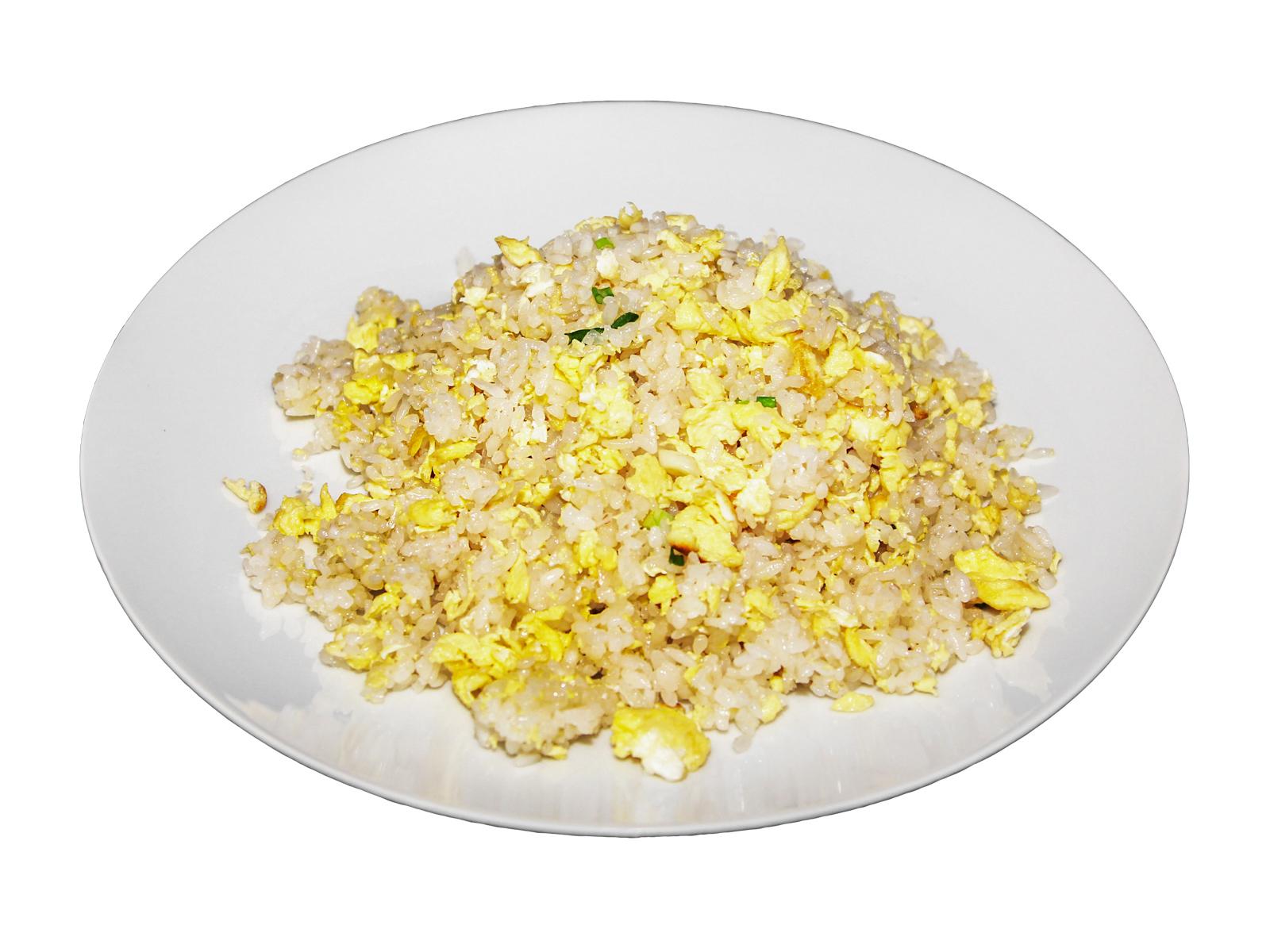 Рис с яйцом и зеленым луком