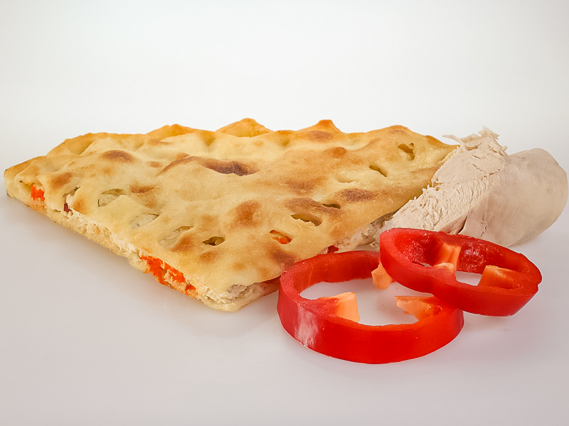 Пирог с индейкой и болгарским перцем