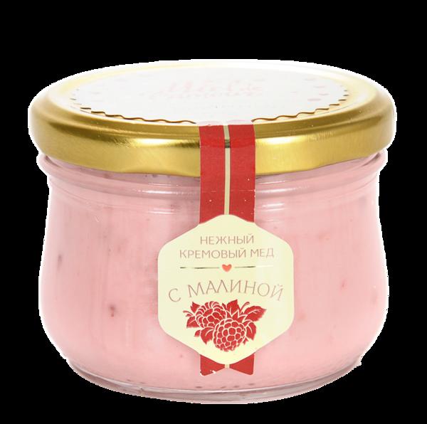 Крем-мёд Miel de lamour липовый с малиной
