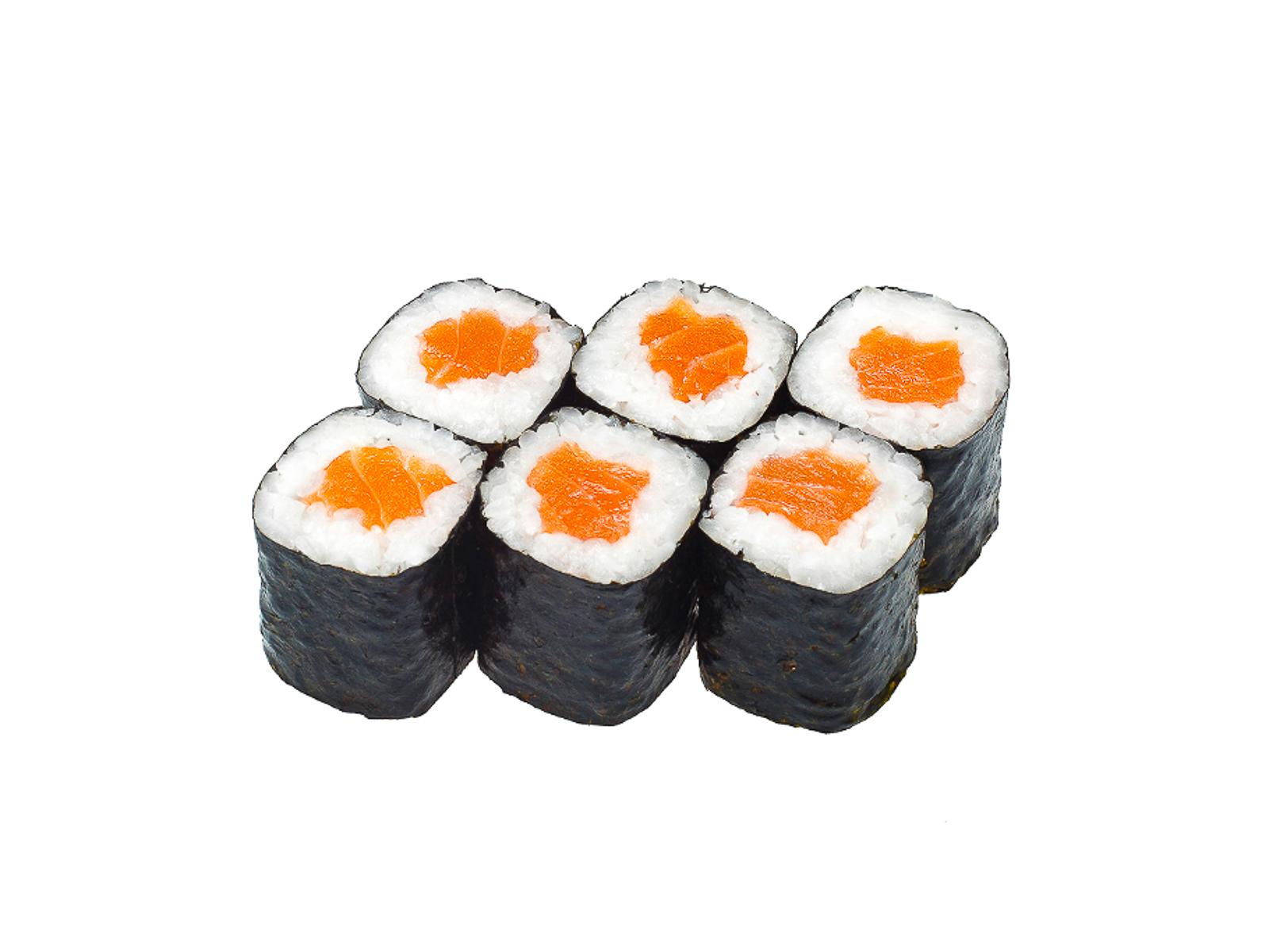 Маленький ролл с лососем