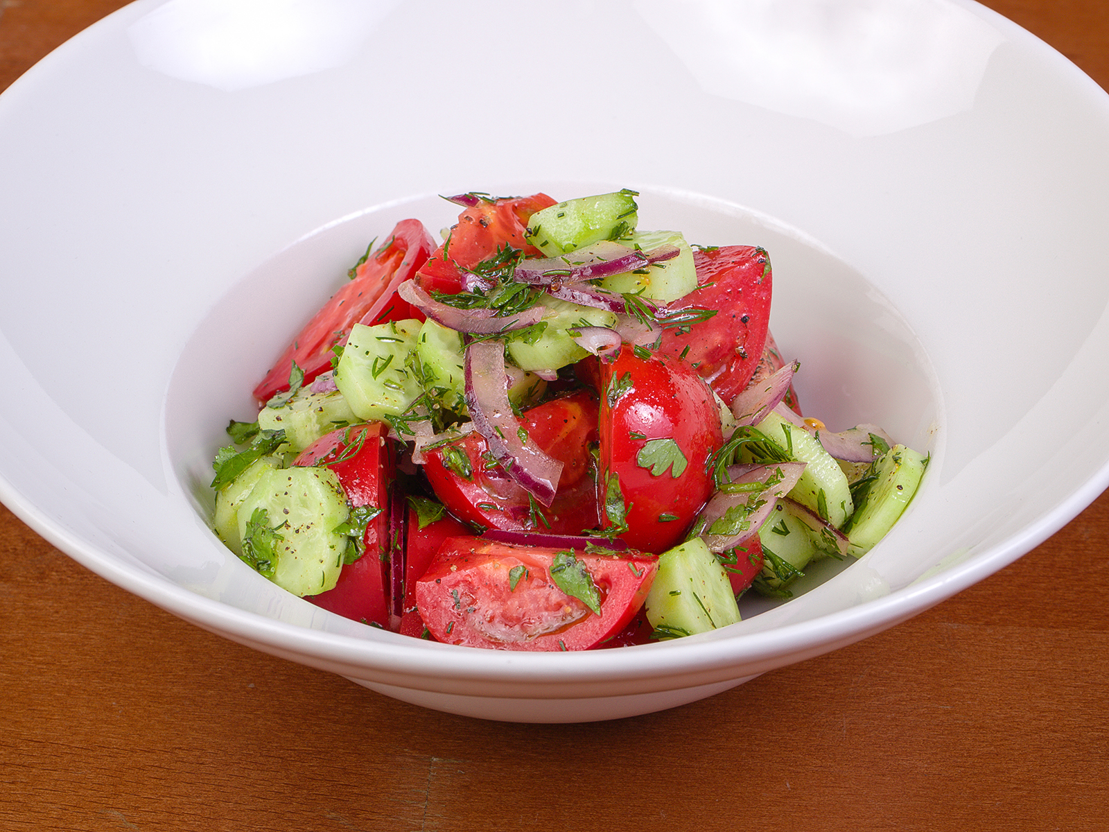 Домашний салат Иль Помодоро