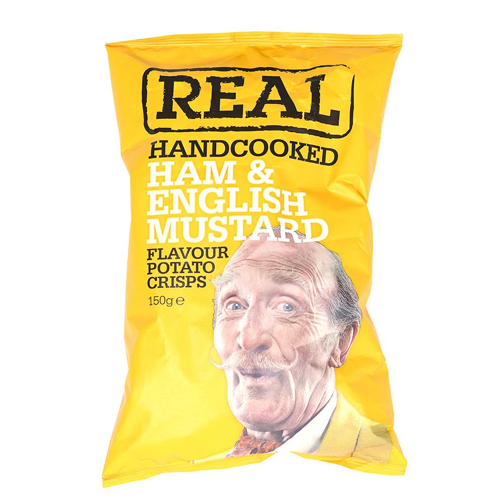Чипсы картофельные Real с ветчиной и английской горчицей Real Crisps Limited