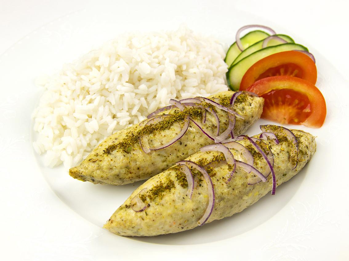 Куриные люля-кебаб с рисом