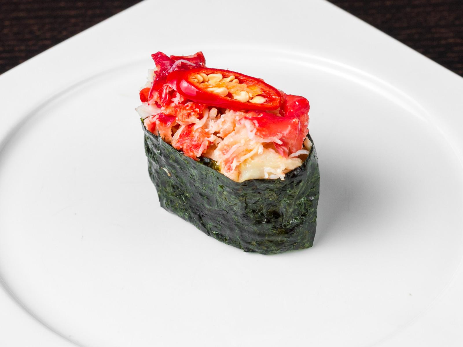 Острые суши краб