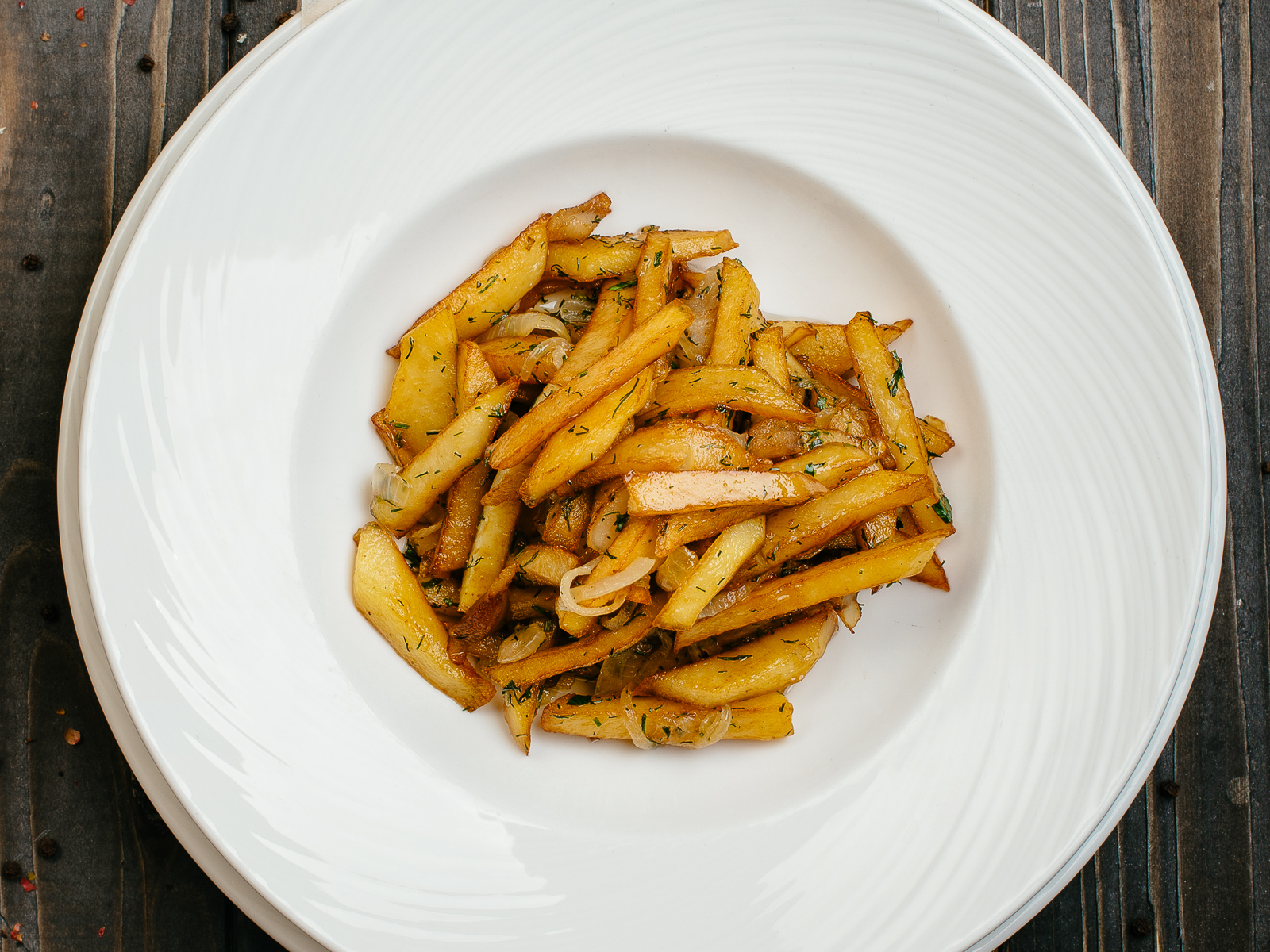 Картофель, жаренный на сале