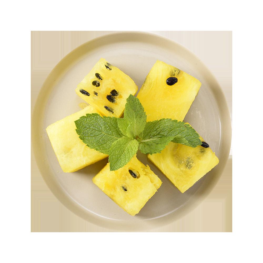Арбуз желтый резанный кубиками