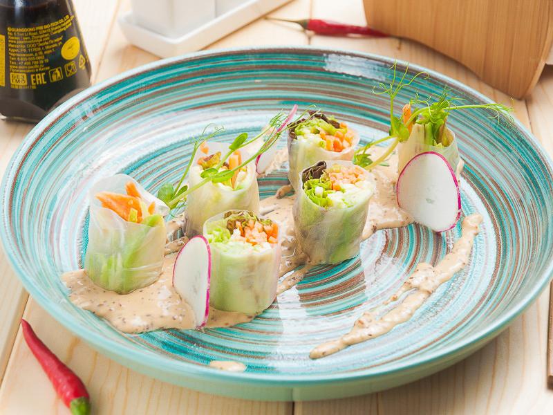 Лёгкие роллы с овощами