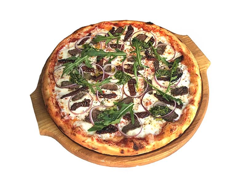 Пицца с говядиной и вялеными помидорами (Халяль)