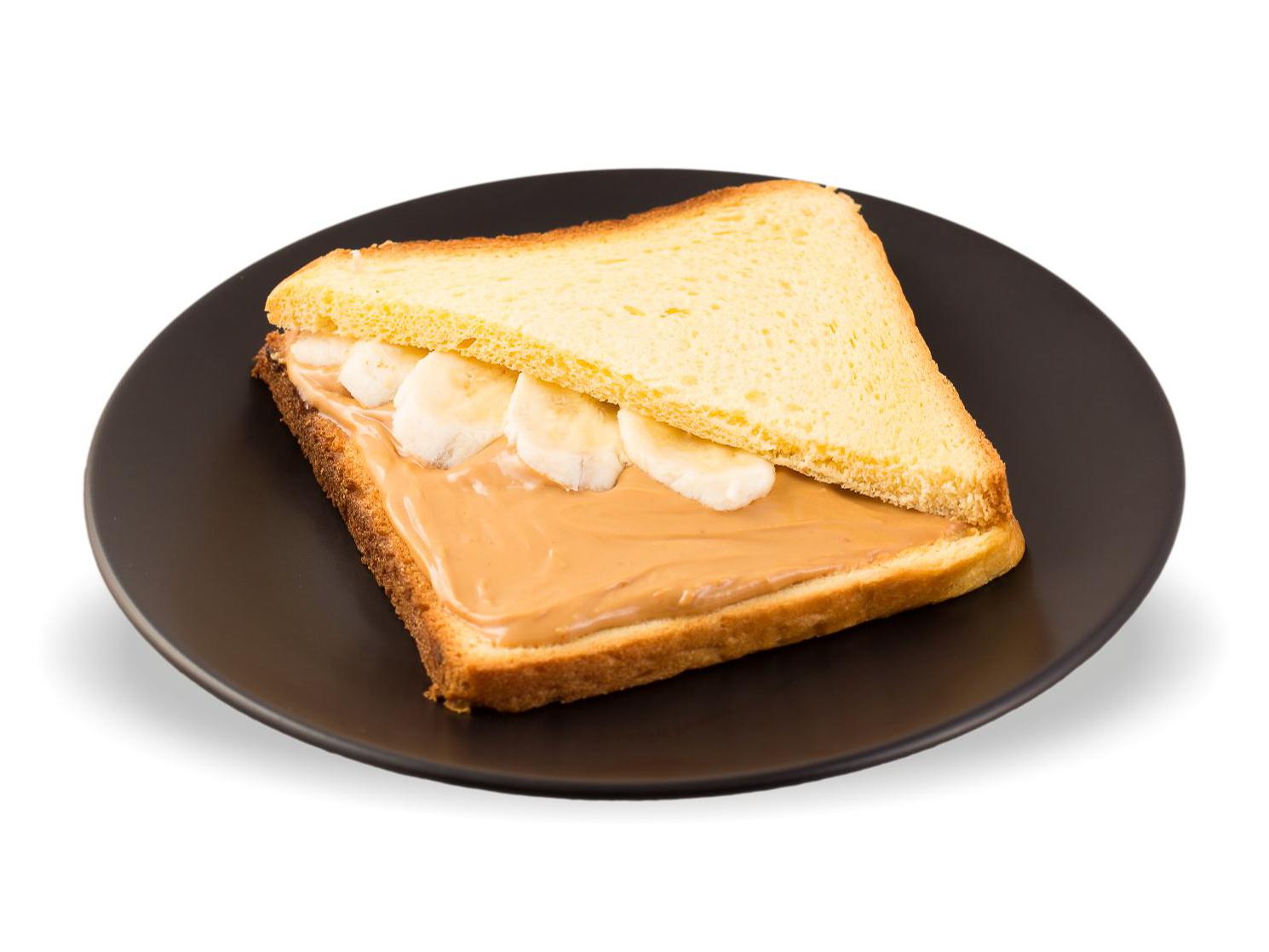 Сэндвич с арахисовой пастой и бананом