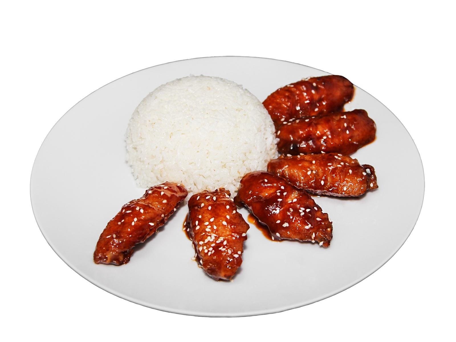 Куриные крылышки в китайском сладком соусе