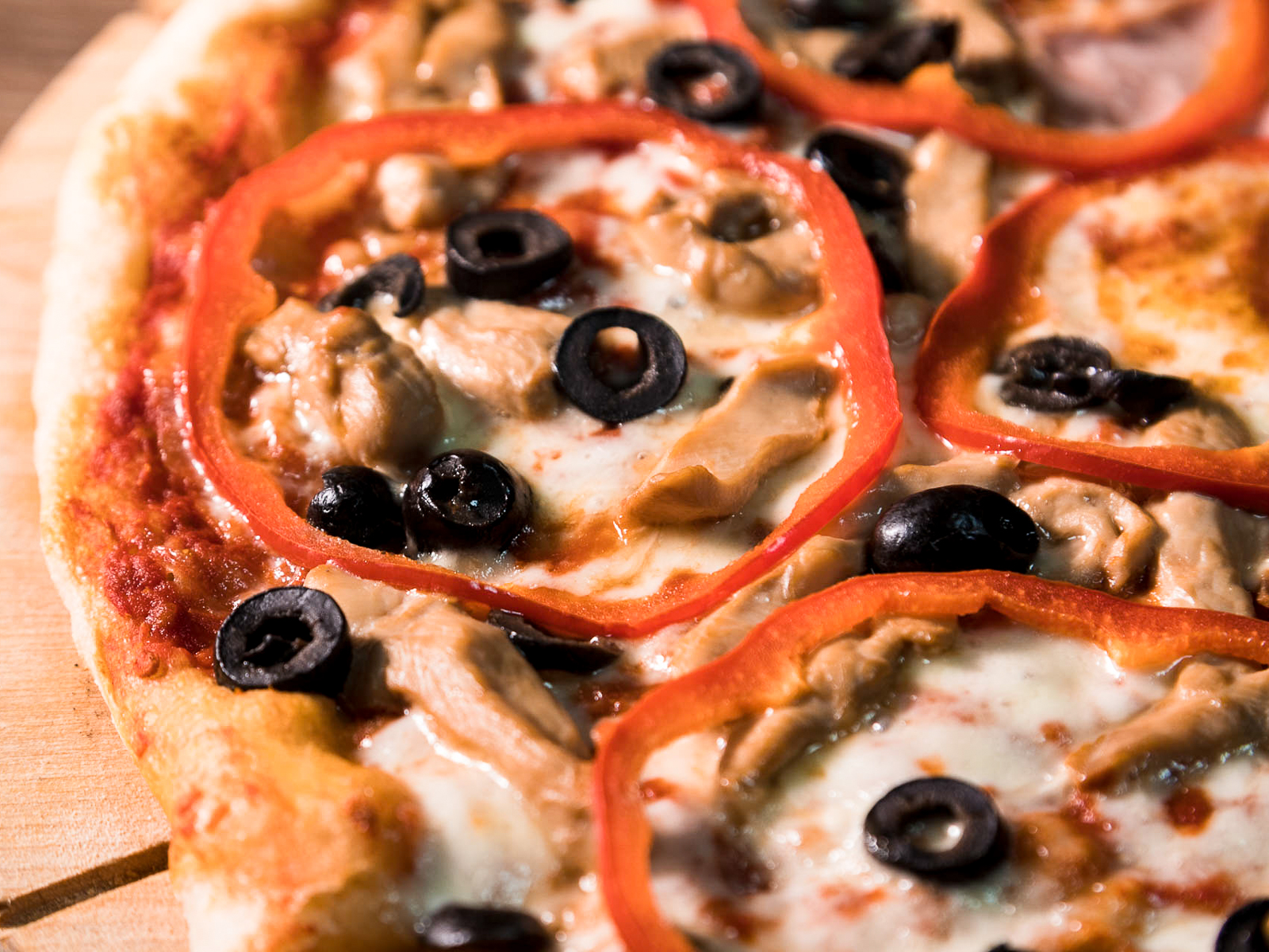 Пицца с курицей