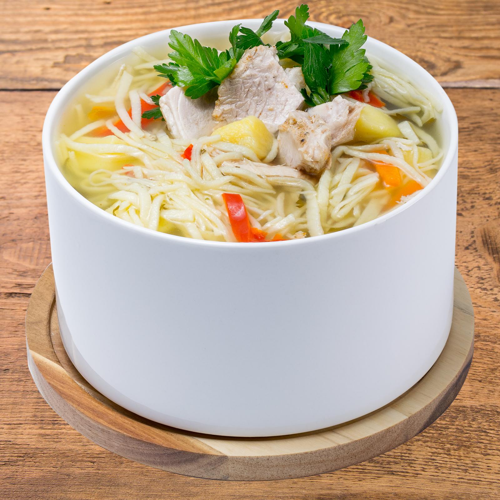 Суп с индейкой и домашней лапшой