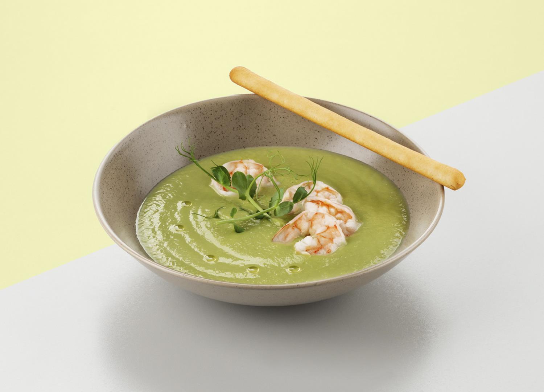 Крем суп из сельдерея с креветками