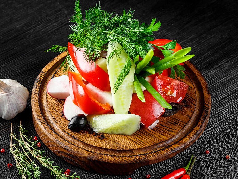Свежие овощи Ассорти