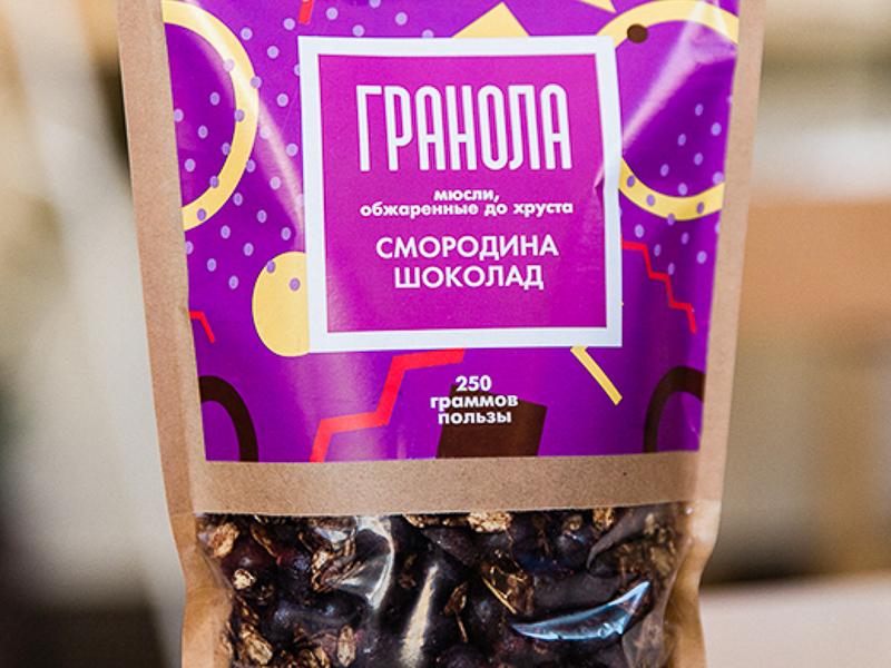 Гранола со смородиной и шоколадом