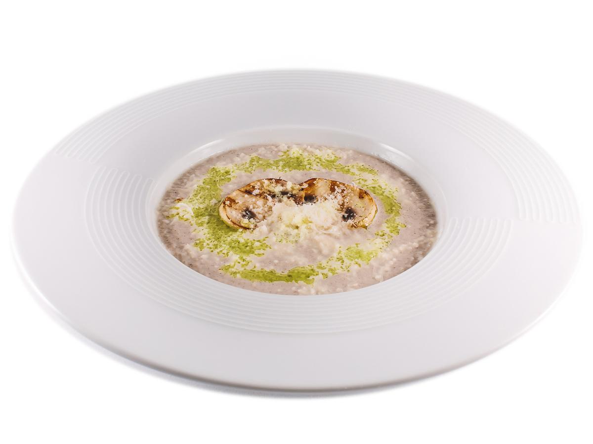 Крем-суп из шампиньонов со сливочным сыром
