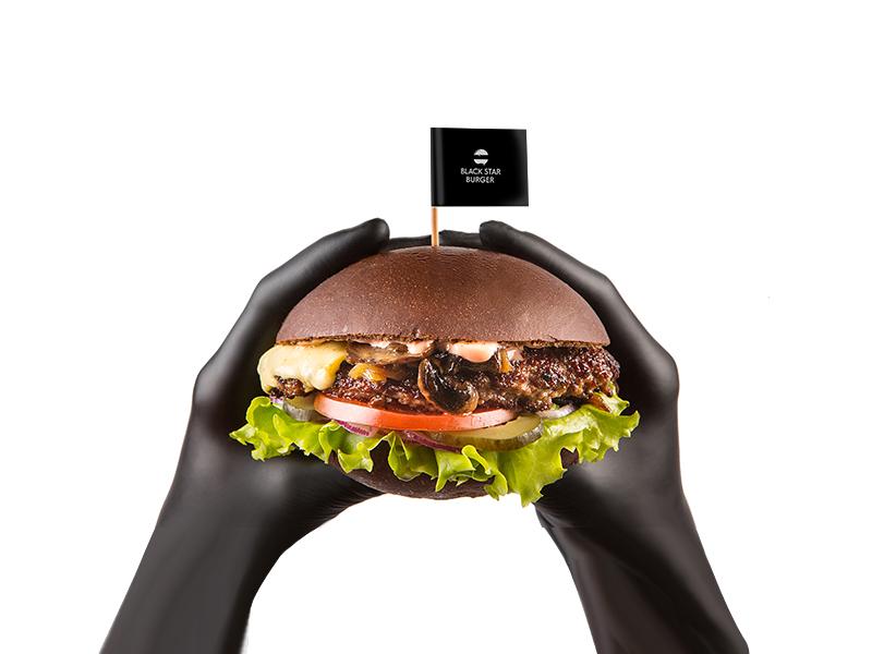 Бургер Грибной с говядиной