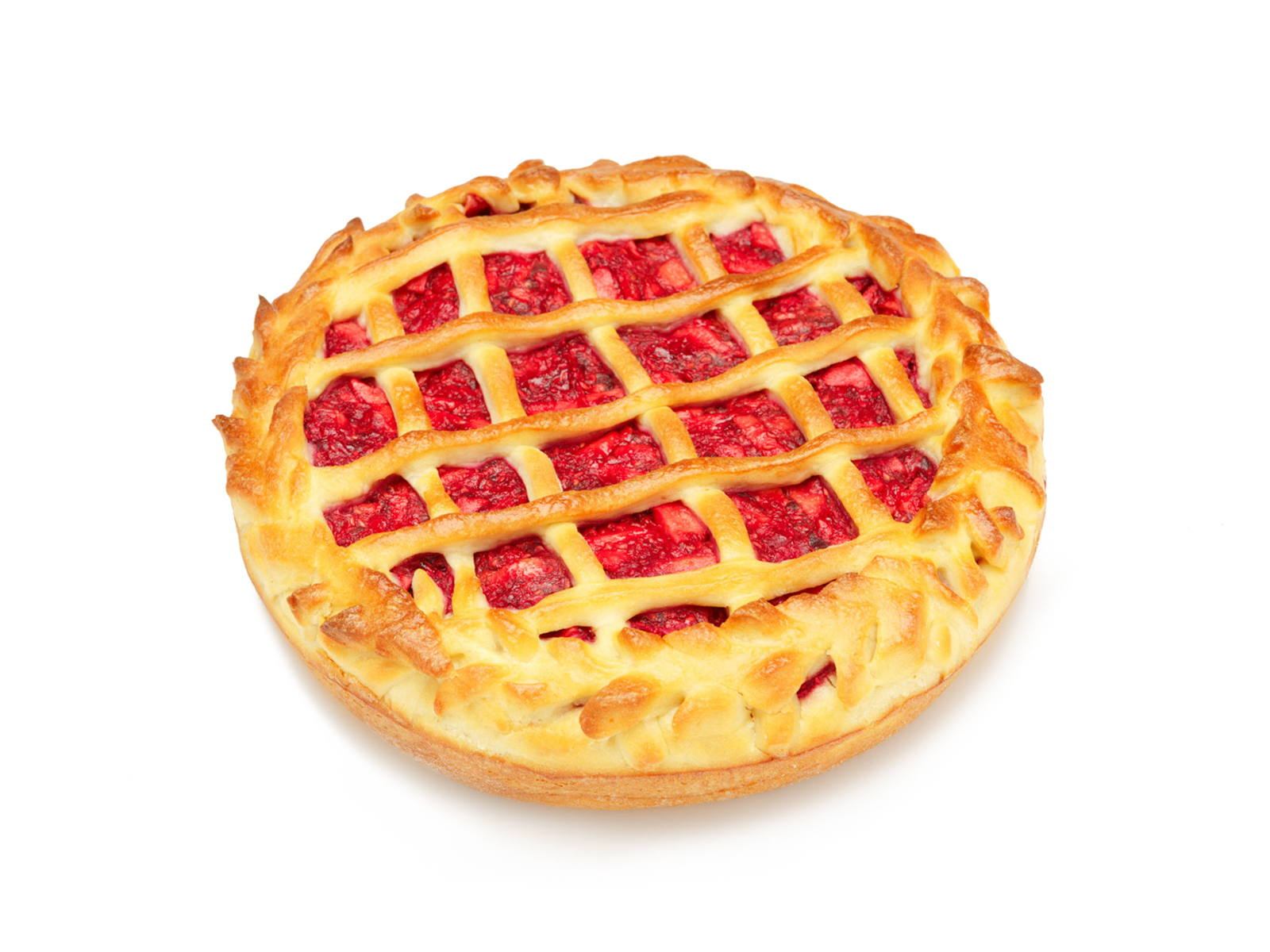 Пирог с яблоком и малиной