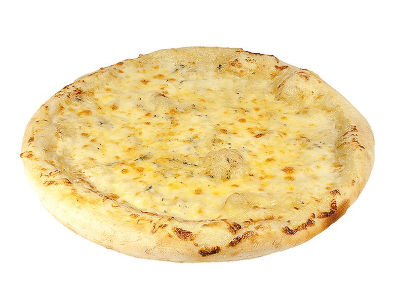 Пицца на толстом тесте 4 сыра