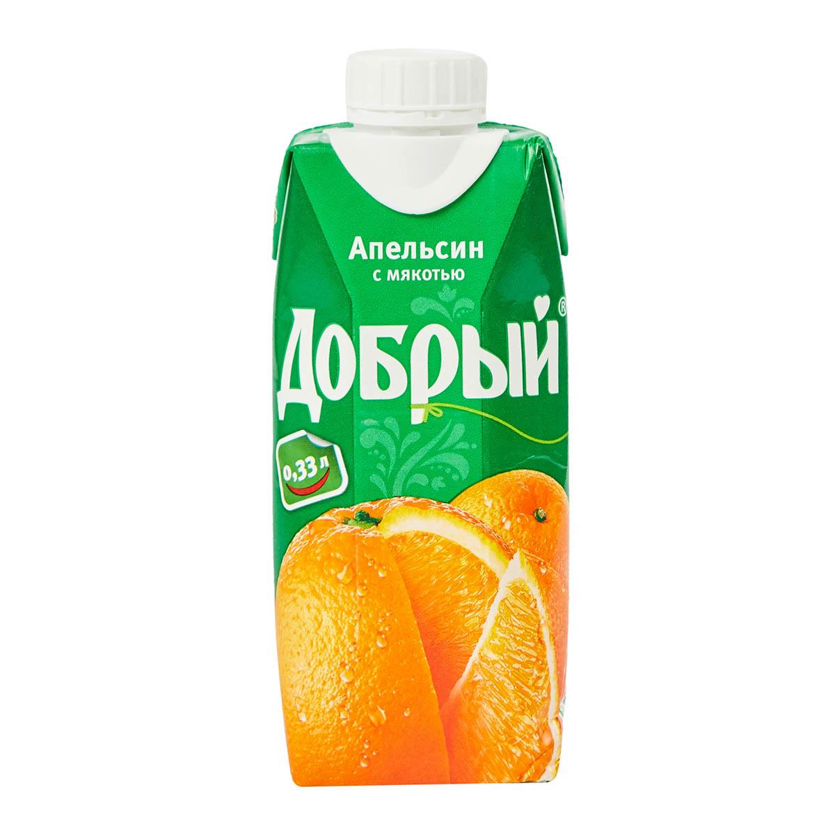 «Добрый» нектар апельсин с мякотью