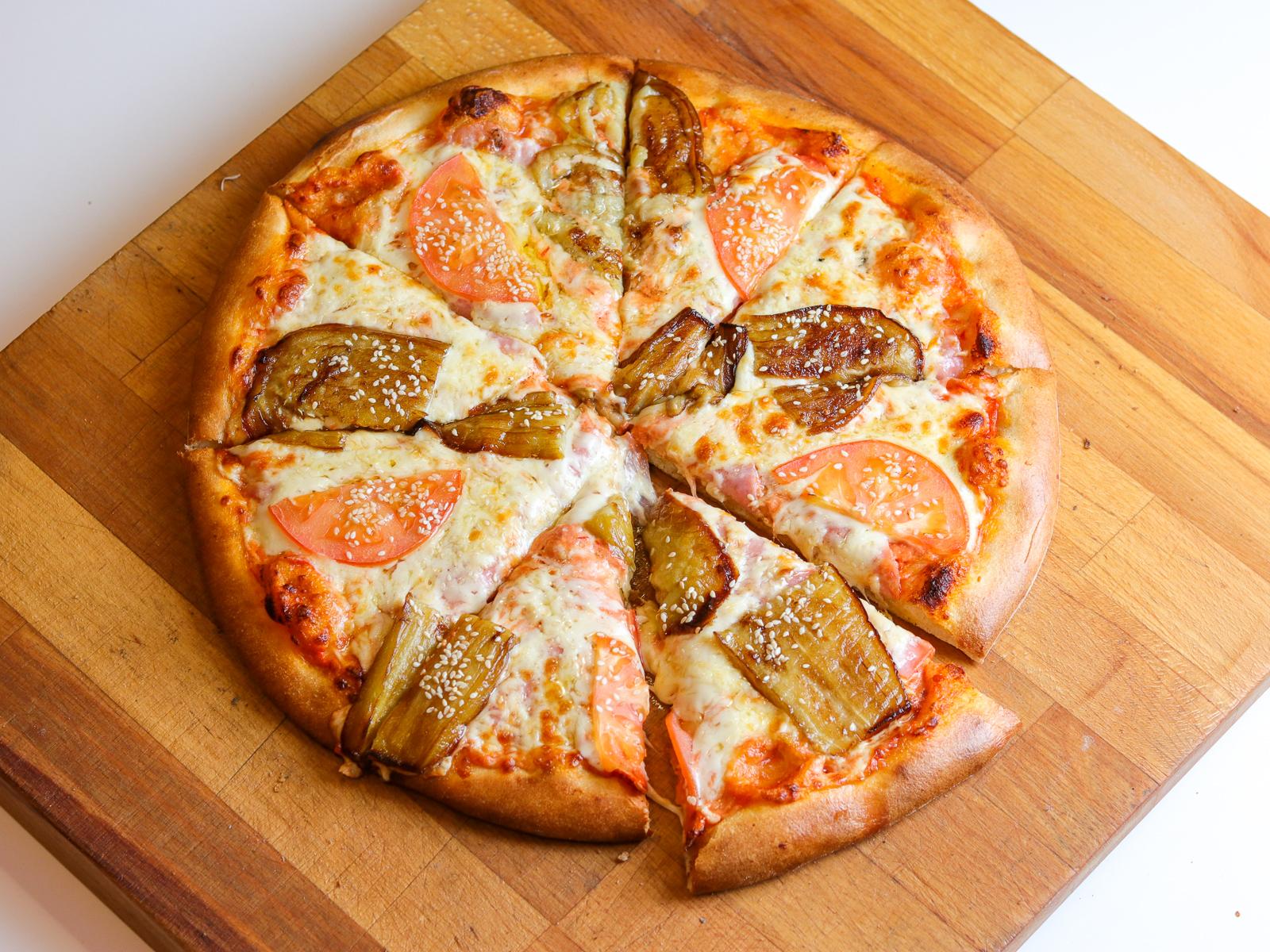 Пицца Сицилия на пышном тесте