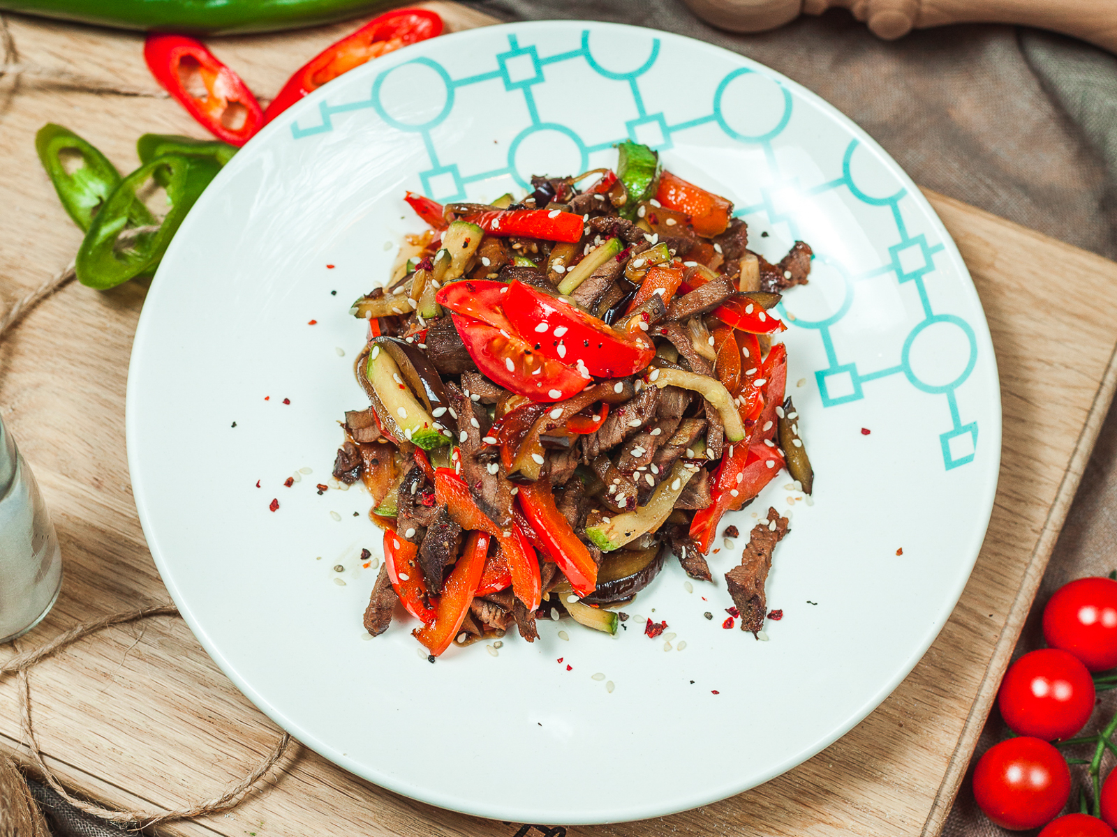 Салат Теплый по-Тайски