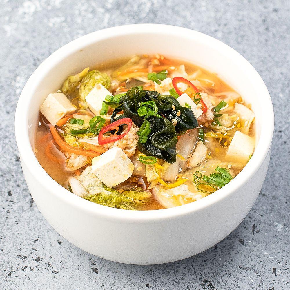 Вегетарианский суп Кимчи