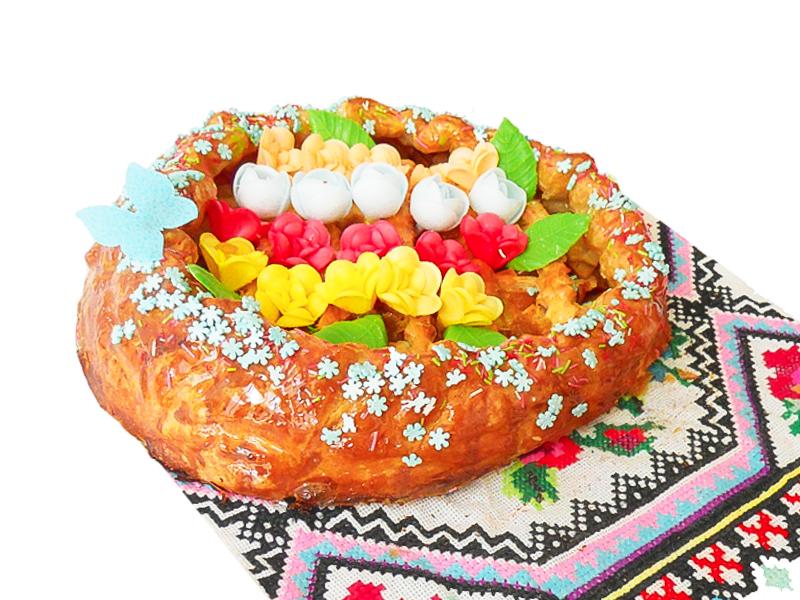Пирог с грушей и миндалем