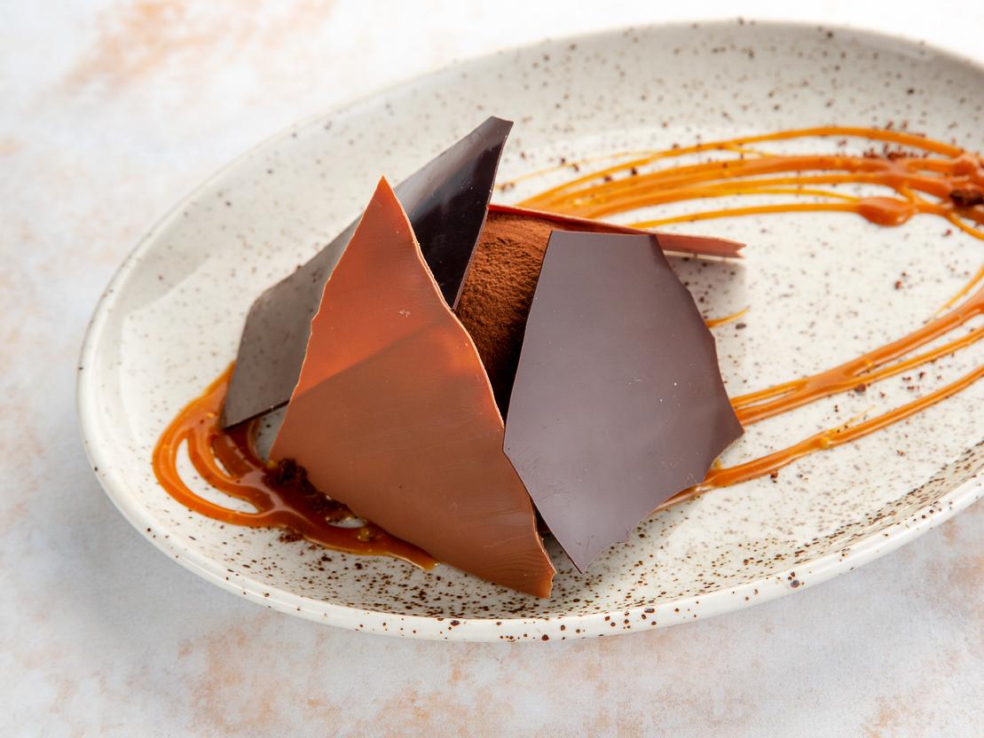 Шоколадный мусс с брауни