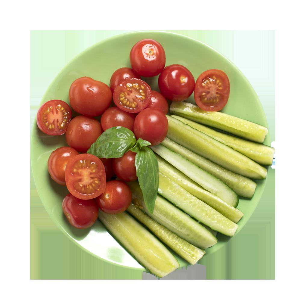 Овощной микс Огурцы, помидоры черри