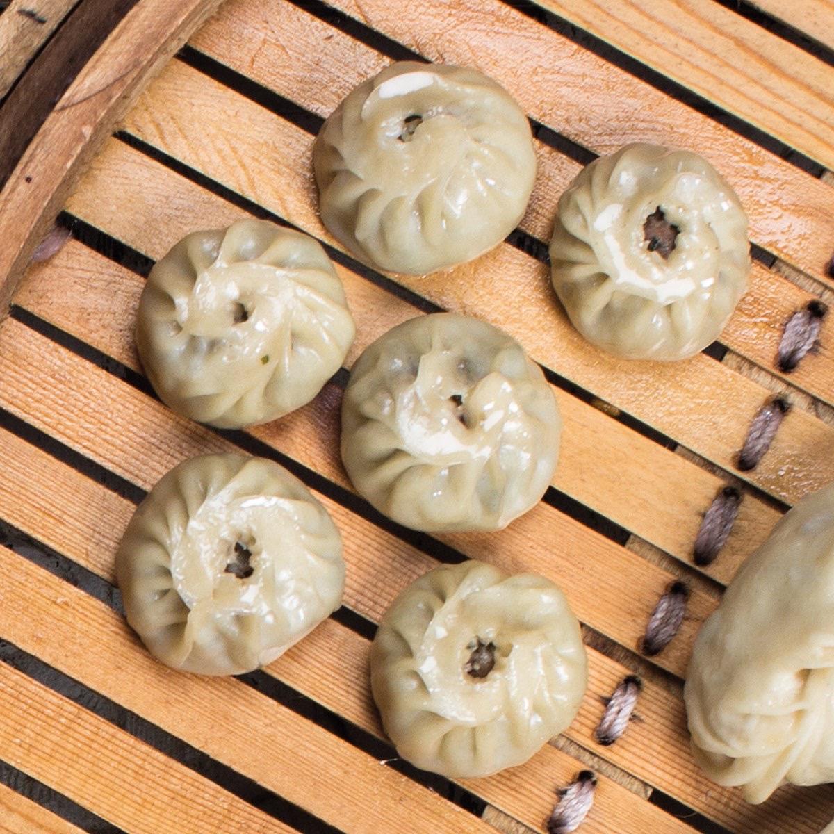 Мини-манты с телятиной