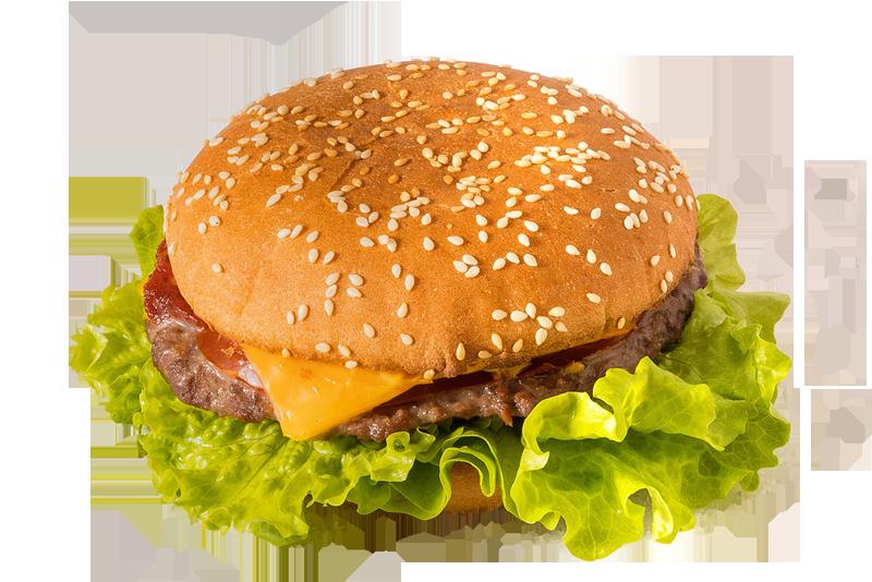 Японский гамбургер на белой булке