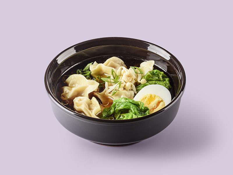 Суп Китайский с вонтонами из свинины